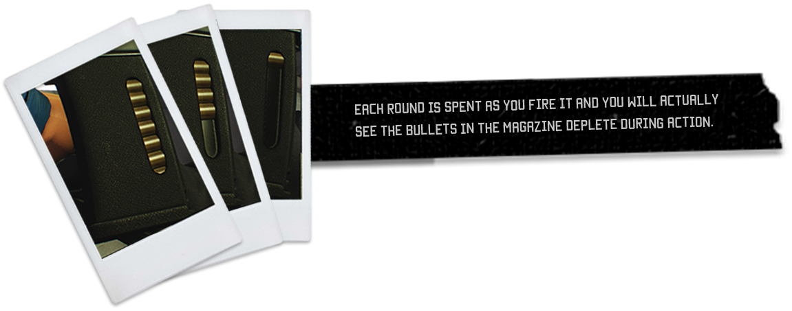 Each round is spent as you fire it and you will actually see the bullets in the magazine deplete during action.
