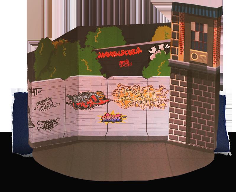 Papercrat diorama safe house. Manualidades a Raudales.